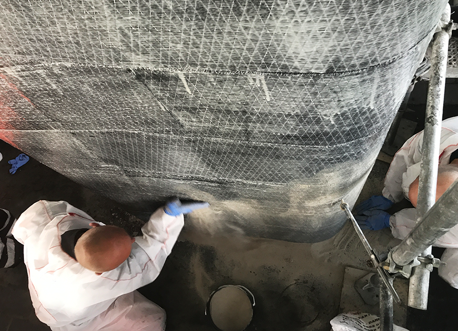 Bridge column repair and reinforcement